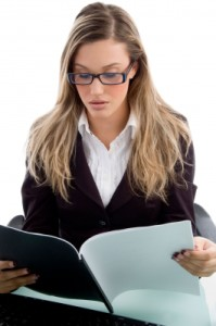 investment content topics woman reading