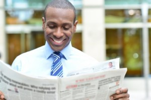 investment content topics reading newspaper